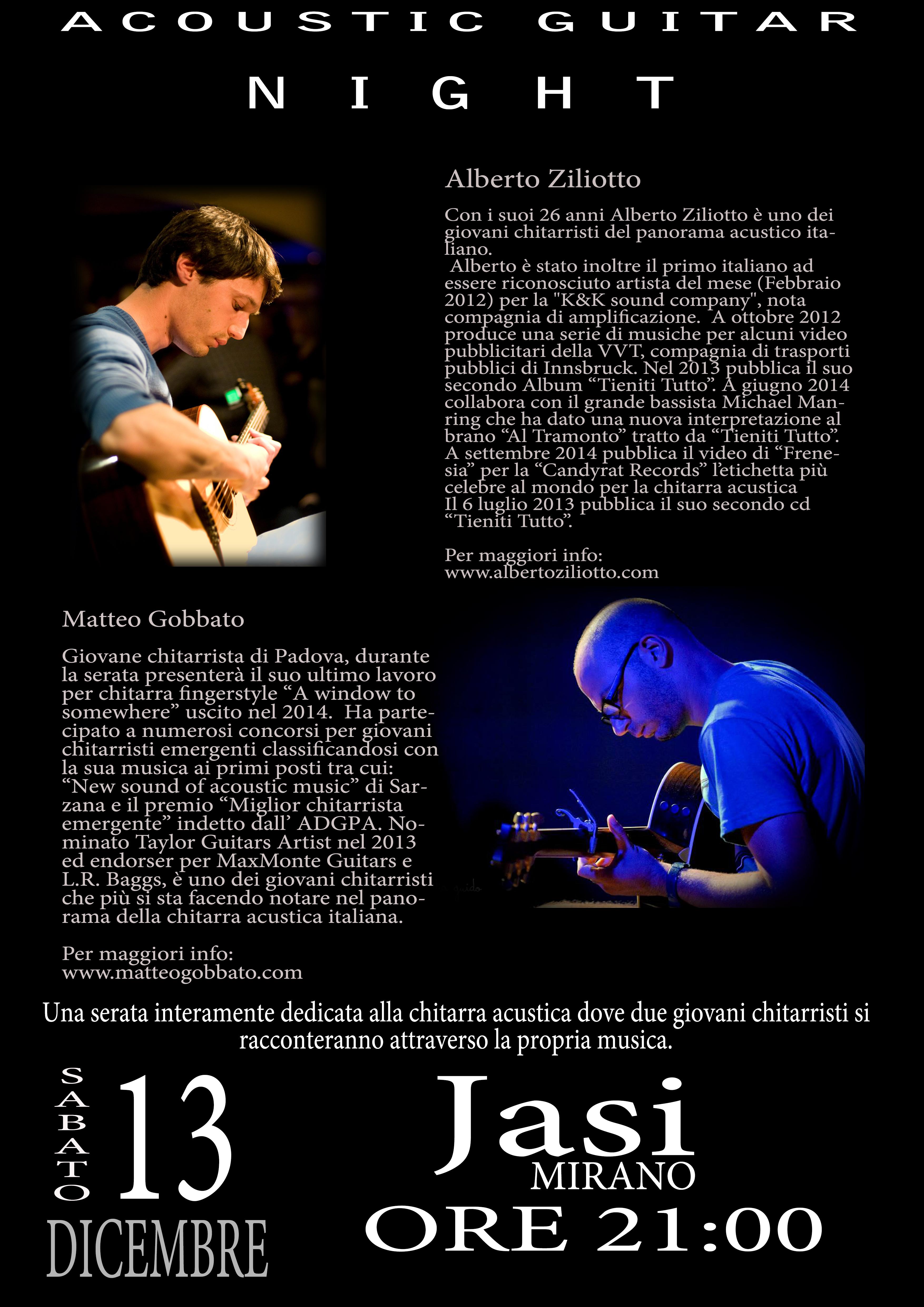 Acoustic guitar night_mirano